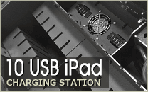 10 USB iPad Charging Station