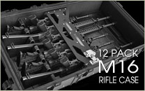12 Pack M16 Rifle Case-m