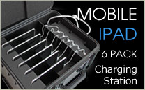 6 Pack Mobile iPad Charging Station