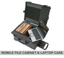 Mobile file cabinet and laptop case
