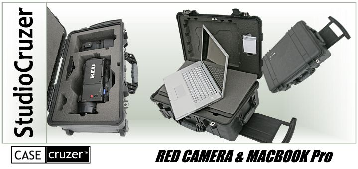 It's a Wrap! Pelican Red Apple StudioCruzer Protects Red OneDigitalMotion-Picture Camera and MacBook Pro