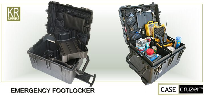 CaseCruzer - Emergency footlocker fro weather disasters
