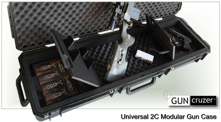 universal gun case with storage compartments