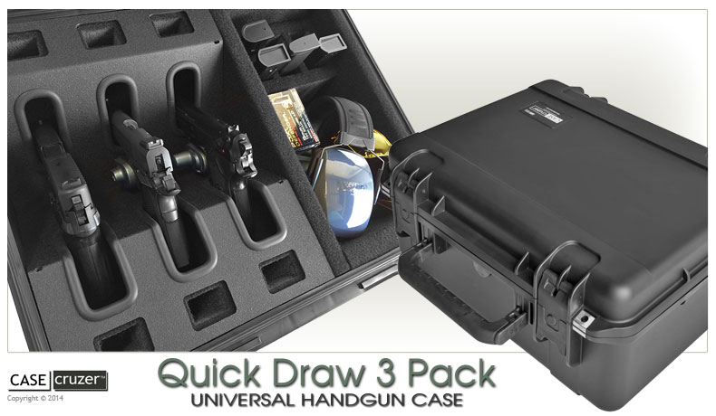 Handgun Case Quick Draw 3 Pack