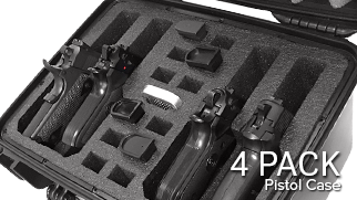 Handgun Pistol Case 4 Pack
