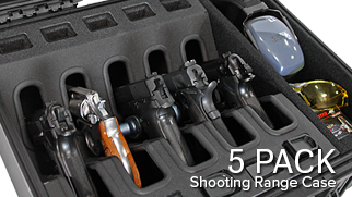 Handgun Shooting Range Case - 5 Pack