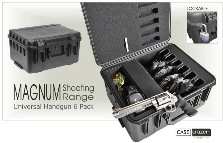 Magnum Shooting Range Handgun 6 Pack Case