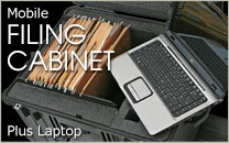 Mobile Laptop Filing Cabinet Case