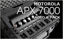Motorola APX 7000 Radio 6 Pack Case