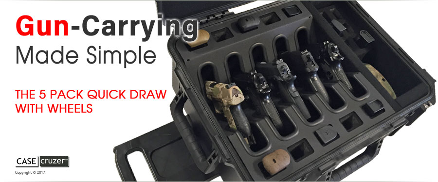 Multiple Gun Case Quick Draw 5 Wheels Press Release