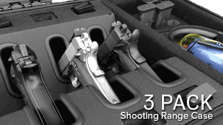 Multiple Handgun Case 3 Pack