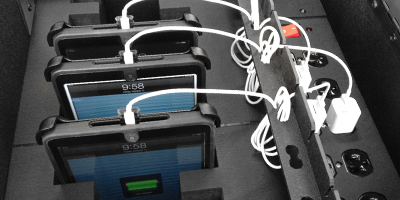 Multiple iPad Charging Station
