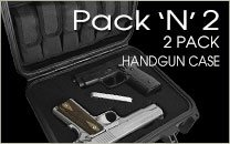 Pack N 2 Handgun Case