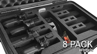 Pistol Case 8 Pack with Wheels