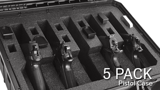 Pistol Handgun Cases 5 Pack