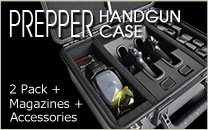 Prepper Handgun Case 2 Pack