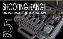 Shooting Range 5 Pack Handgun Case