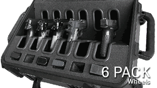 Quick Draw Handgun Case 6 Pack