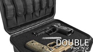 Pack 'N' 2 Handgun Case Double