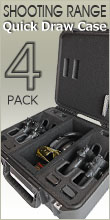 Shooting Range Handgun Case 4 Pack