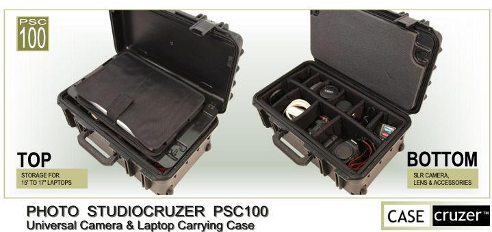 PSC100 Universal Camera & Laptop Case by CaseCruzer