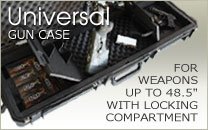 Universal Gun Cases with Locking Compartment holds weapons up to 48.5""