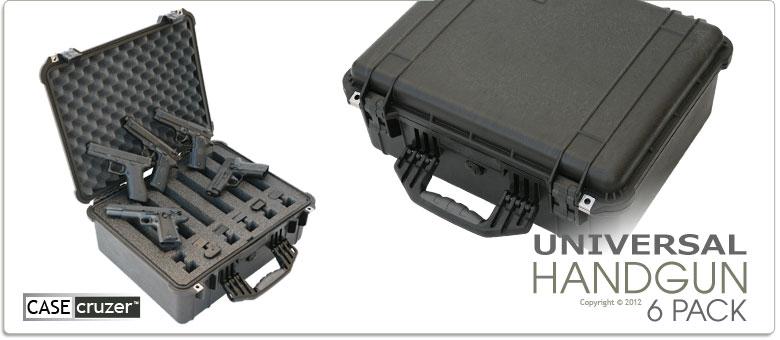 6 Pack Universal Hand Gun Case Guncruzer