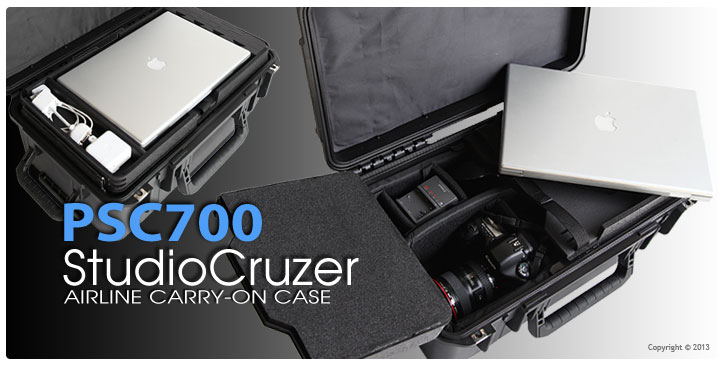 PSC700 studiocruzer airline carry on laptop and camera case