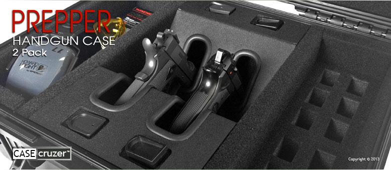 Quick Draw Prepper Handgun Case Universal 2 Pack