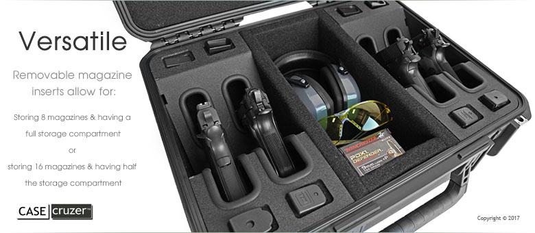 Handgun Case Shooting Range Universal 4 Pack Case
