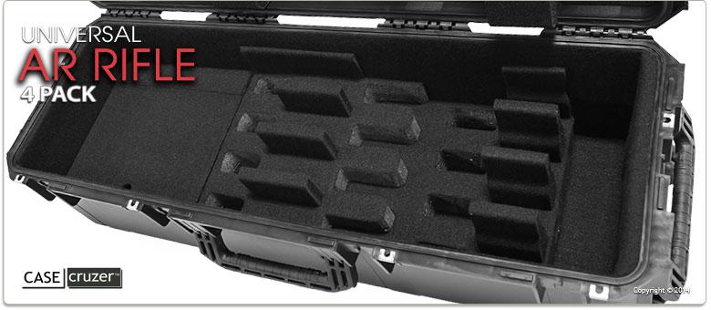 Universal Ar Rifle Case 4 Pack Guncruzer