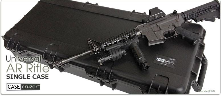 Single AR 15 Tactical Rifle Case - GunCruzer